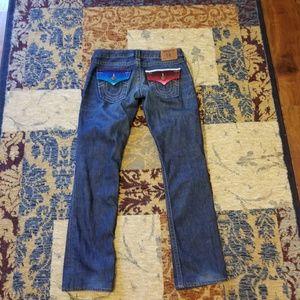 Ladies True Religion straight cut jeans size 27